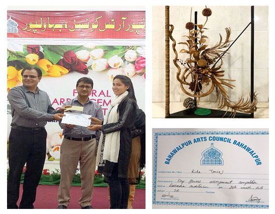 Department Fashion Art and Design(GSCWU) Got 1st Position in Dry andFresh Floral Competition